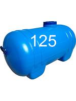 Емкость горизонтальная пластиковая пищевая овальная для воды однослойная объем 125 литров.