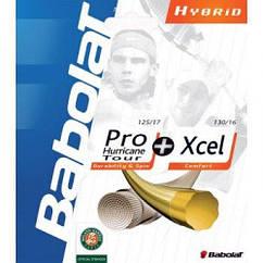 Струна Babolat Hybrid Pro hurr tour 1,30mm + VS 1,30mm black 12