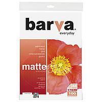 Фотобумага Barva, матовая, A4, 170 г/м2, 100 листов (IP-AE170-323)