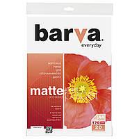 Фотобумага Barva, матовая, A4, 170 г/м2, 20 листов (IP-AE170-321)