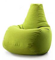 Кресло мешок груша микро-рогожка 85*105 см Горчичный