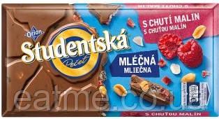 Studentska Молочный шоколад с малиновым мармеладом и арахисом