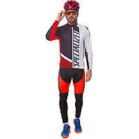 Велоформа длинный рукав с лямками SPECIALIZED R-3 (р-р M-3XL-55-90кг-168-192см, черный-белый-красный)