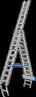 Лестница алюминиевая трехсекционная Elkop VHR Hobby 3x10