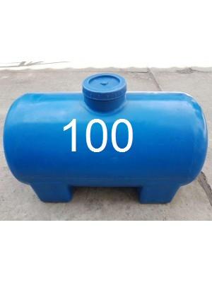 Пластиковая емкость для воды горизонтальная пластиковая однослойная 100 литров.