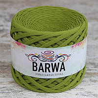 Трикотажная пряжа BARWA standart 7-9 мм, цвет Голден грин