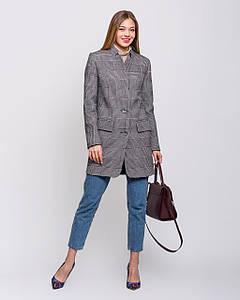 Пальто-пиджак в клетку кашемир с 42 по 48 р. Весна 2020