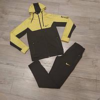 Мужской спортивный костюм Nike желтый. Чоловічий спортивний костюм Nike жовтий.