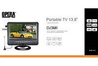 Портативный телевизор Opera 13.8 с T2. Аккумулятор, USB, питание 12В