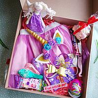 !Оригинальный Сувенирный подарочный набор для девочки.Фатиновая юбка и обруч единорог ручная работа36*38*7,5см