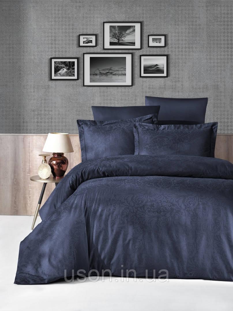 Комплект  постельного белья  жаккард TM First Choice  Tecna lacivert