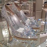 Хрустальные туфельки золушки, свадебные туфли в камнях, фото 1