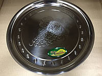 Поднос круглый из нержавеющей стали Виноград d 34 см, фото 1
