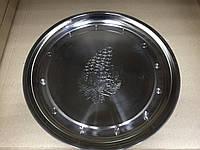 Поднос круглый из нержавеющей стали Виноград d 32 см, фото 1