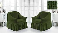 Комплект Чехлов на    2 кресла Зеленый