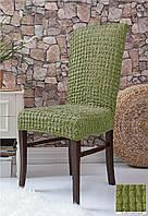 Чехлы на стулья без юбки 6 штук Фисташковый