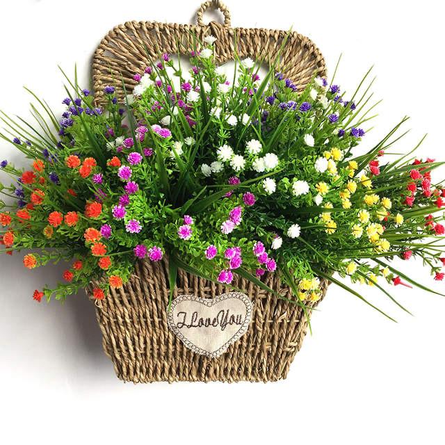 Искусственный мелкоцвет. Букет для дома и для уличного использования( 28 см)