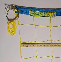 Сетка волейбольная Time Премиум 12 с тросом желто-синяя