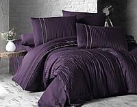 Комплект постельного белья Страйп Сатин евро Stripe Style Mor