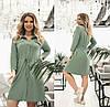 Сукня жіноча з куліскою по талії (6 кольорів) ТК/-1237 - Оливковий