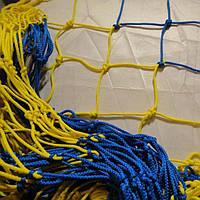 Сетка футзальная/гандбольная Time Эксклюзив 1.1. желто-синяя  (2шт.)