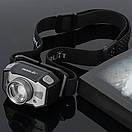 Налобный фонарик BORUiT B33 ZOOM фонарь с аккумулятором 1200 mAh от USB, фото 3