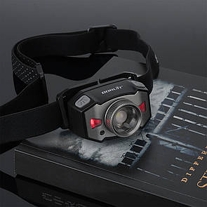 Налобный фонарик BORUiT B33 ZOOM фонарь с аккумулятором 1200 mAh от USB