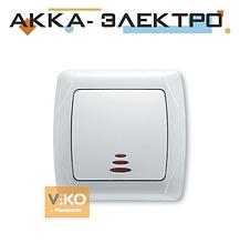 Вимикач 1-кл. з підсвіткою білий ViKO Carmen 90561019