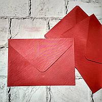 Конверт бумажный, бордовый, 15х21 см
