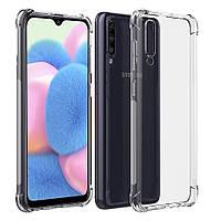 Силіконовий чохол протиударний Shock Samsung Galaxy A01 (2020) Прозорий