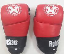 Рукавички для боїв без правил шкіряні ЛЕВ M1-L(R) розмір L червоні