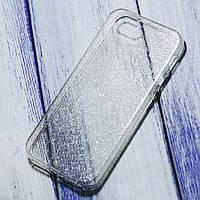 Силиконовый чехол блестящий Star Apple iPhone 5/5s/SE Прозрачный