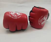 Рукавички для боїв без правил шкіряні ЛЕВ M1-S(R) розмір S червоні
