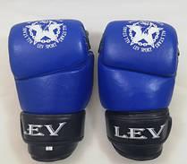 Рукавички для боїв без правил шкіряні ЛЕВ M1-L(B) розмір L сині