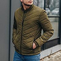 Куртка мужская короткая демисезонная стеганая хаки