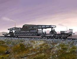 Немецкая железнодорожная платформа для транспортировки орудия Карл. 1 72 HOBBY BOSS 82906