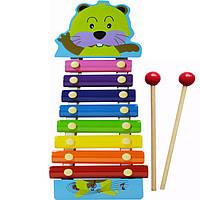 Деревянная игрушка Ксилофон MD0712 (Бобер)
