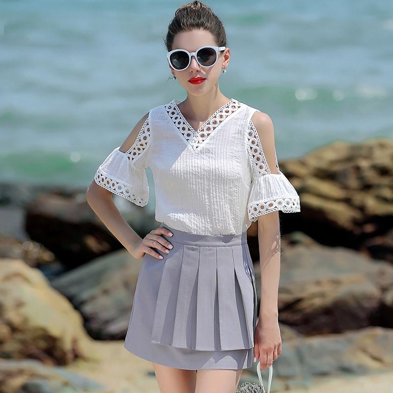 Жіночна блузка з трикутним вирізом 42-44 (в кольорах)