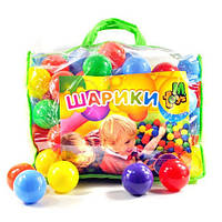 Шарики детские для сухих бассейнов 100 шт в сумке 80мм