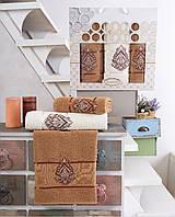 Набор полотенец Gulcan Henna махровые 50-90 см-2 шт,70-140 см-1 шт золотистый
