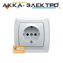Розетка з заземленням біла ViKO Carmen 90561008