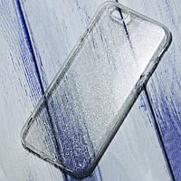 Силиконовый чехол блестящий Star Apple iPhone 6/6s Прозрачный