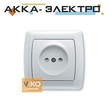 Розетка з шторками без заземлення ViKO Carmen 90561043