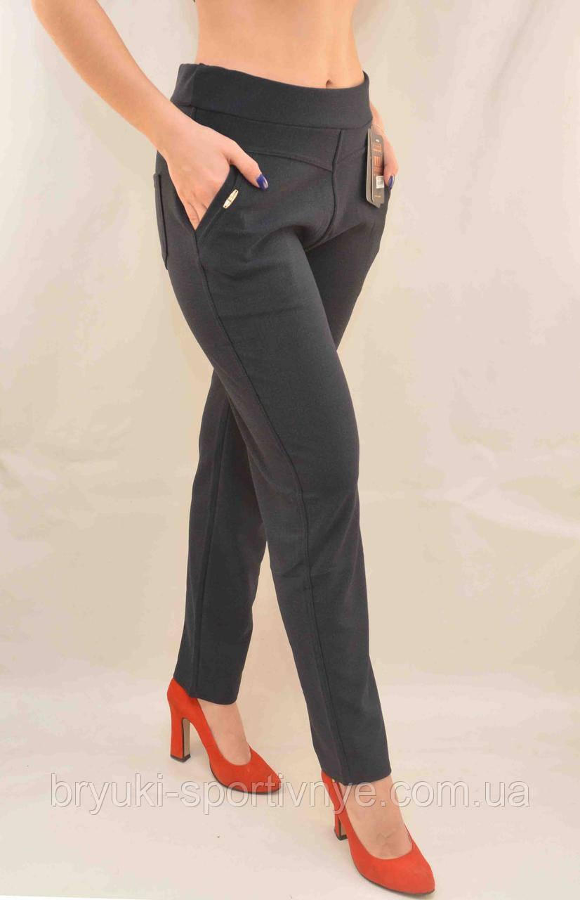 Брюки - леггинсы женские с карманами в больших размерах  XL/2XL Лосины с карманами (Польша)