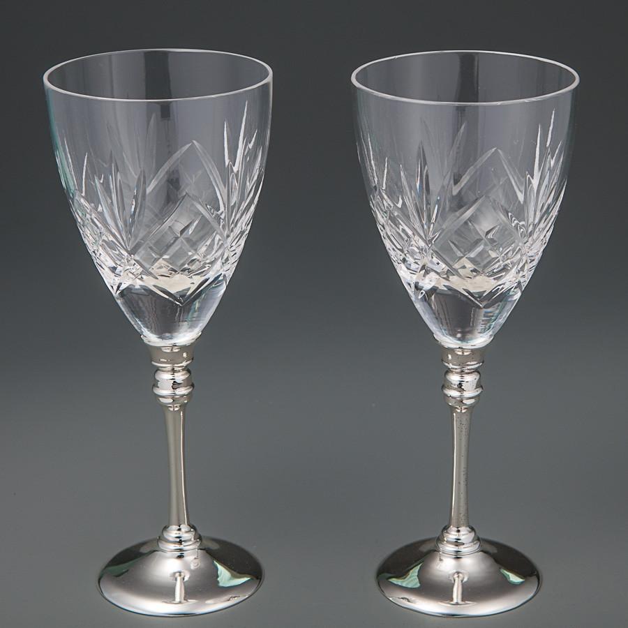 Свадебные бокалы Veronese 2 шт  8214H-2 пара парные бокалы на свадьбу на торжество для вина