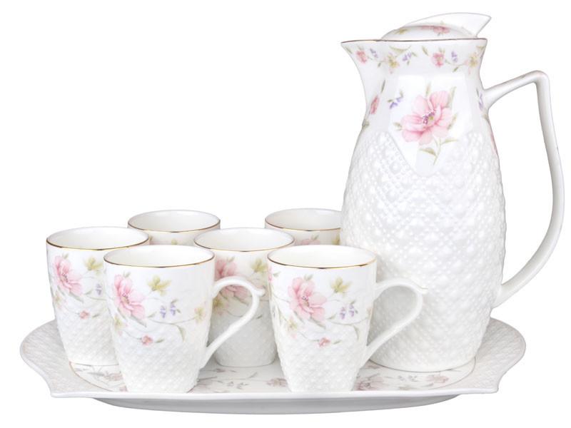 Чайний набір на підносі Lefard Лаура на 8 предметів 943-133 набір посуду для чаю сервіз фарфор
