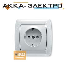 Розетка з шторками з заземленням ViKO Carmen 90561042