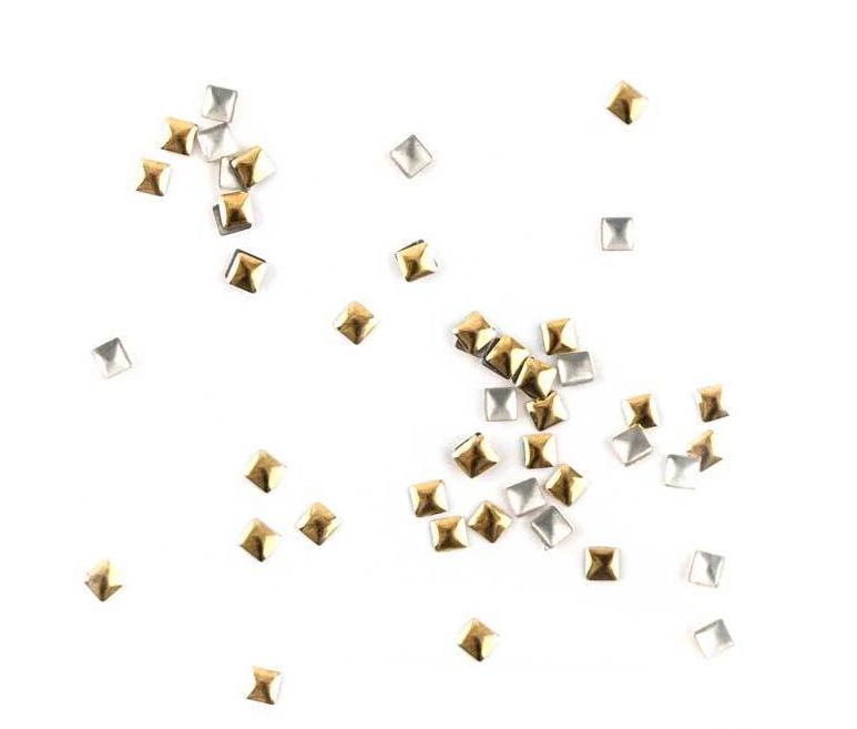 Набір металевих прикрас для нігтів золото 100 шт