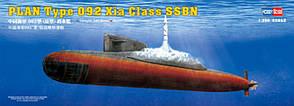 PLAN Type 092 Xia Class SSN. Сборная модель китайской подводной лодки в масштабе 1/350. HOBBY BOSS 83511