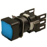 Кнопка нажимная квадратная d16мм (1НО) синяя